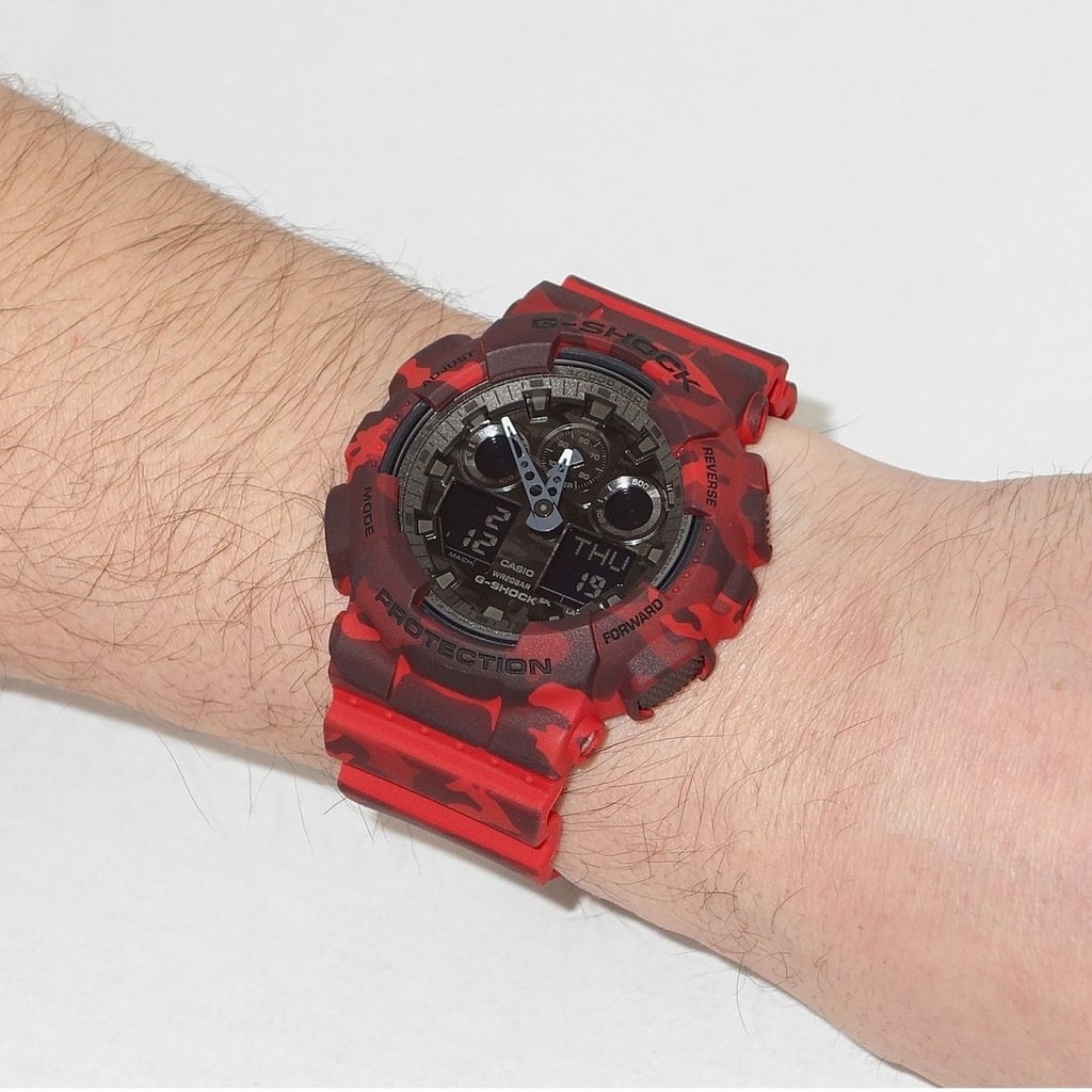 Casio G-Shock - GA-100CM-4AER - TimeStore.cz df3b4ea211