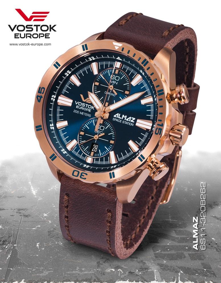 67e67bafec0 Hodinky Vostok Europe Almaz Chrono 6S11-320B262