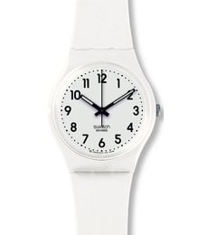 Hodinky Swatch Just White Soft GW151O