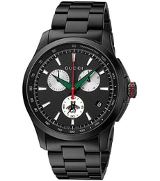 Hodinky Gucci G-timeless Chronograph XL Black YA126268