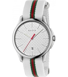 Hodinky Gucci G-Timeless White Dial Striped Nylon YA126322