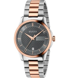 Hodinky Gucci G-Timeless Grey Dial Two-tone Unisex YA126446