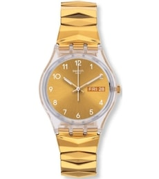 Hodinky Swatch Gold Brunnen L GE708A