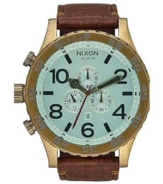 Hodinky Nixon Chrono Leather Brass A124-2223
