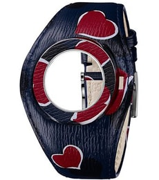 Hodinky Gucci  U-Play Blue and Red Heart Leather Bandeau Watch Band Strap and Bezel YFA50057
