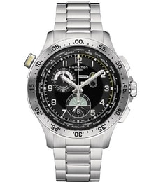 Hodinky Hamilton Khaki Aviation  Worldtimer Chrono Quartz H76714135