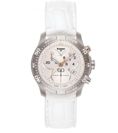 Hodinky Traser H3 Classic Ladytime Chronograph Silver Silikon 100353