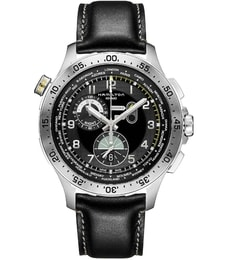 Hodinky Hamilton Khaki Aviation  Worldtimer Chrono Quartz H76714735