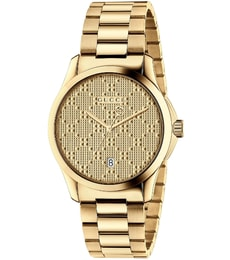 Hodinky Gucci G-Timeless Yellow Gold Diamond Pattern YA126461