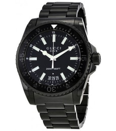 Hodinky Gucci Dive Black Dial Stainless Steel YA136205