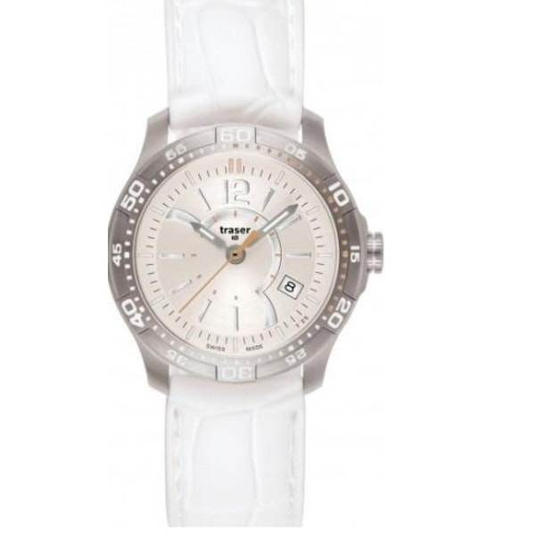 Traser H3 Classic Ladytime Silver Silikon