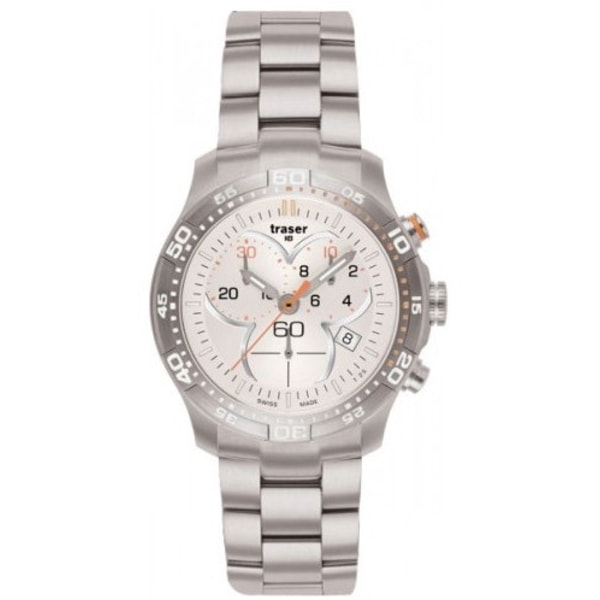 Traser H3 Classic Ladytime Chronograph Silver Stahl