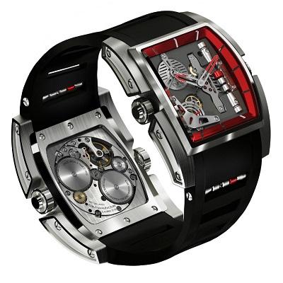 Časomíry Cyrus Kambys jsou určitě pozoruhodné hodinky, které zaujmou svým nadčasovým designem a velmi neobvyklým ciferníkem. Cool design je zde k dispozici ve velmi atraktivním balení. Hodinky mají obdélníkové pouzdro, přičemž nejdelší strana obdélníku měří padesát milimetrů. Uvnitř těchto moderních a velmi pohledných hodinek je strojek 7778, který je složen z 290 dílů. Strojek pracuje na frekvenci 21 600 polokmitů a má celkem padesát kamenů. Celková rezerva chodu hodinek je úctyhodných sedm dnů. Rezerva chodu hodinek se zobrazuje na obdélníkovém ciferníku hodinek. Zobrazuje se vertikálně se posouvajícími třemi malými závažími, které uvidíte na pozici čísla tři. Každé závaží představuje dva dny celkové rezervy chodu a poslední červené závaží pak představuje tři dny. Tento velmi povedený strojek je dílem strýce zakladatelů firmy Cyrus. Tento strýček je známý a světově uznávaný hodinář Jean-Francoise Mojon.   Časomíry Cyrus Kambys kombinují velmi pěkné a výrazné barvy. Sytě černá se zde snoubí s výraznou červenou barvou, takže hodinky vypadají velmi vyzývavě a přitažlivě. Zajímavostí hodinek je, že po stisknutí tlačítka na pozici čísla devět se vám objeví logo hodinářské společnosti Cyrus. Náramkové hodinky Cyrus Kambys jsou teprve prvním kusem této nově začínají společnosti, takže čas teprve ukáže, s čím vším ještě firma Cyrus na světové trh s hodinkami časem přijde.