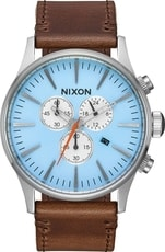 Nixon Sentry chrono Leather Sky Blue A405-2547 - 30 dnů na vrácení zboží